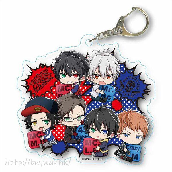 催眠麥克風 -Division Rap Battle- 「池袋 + 橫濱」抱著 MC 名牌 亞克力匙扣 GyuGyutto Choi Deka Acrylic Key Chain Pair Pattern Ver. Ikebukuro & Yokohama【Hypnosismic】