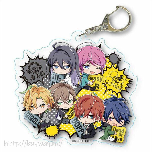 Hypnosismic -Division Rap Battle- 「澀谷 + 新宿」抱著 MC 名牌 亞克力匙扣 GyuGyutto Choi Deka Acrylic Key Chain Pair Pattern Ver. Shinjuku & Shibuya【Hypnosismic】