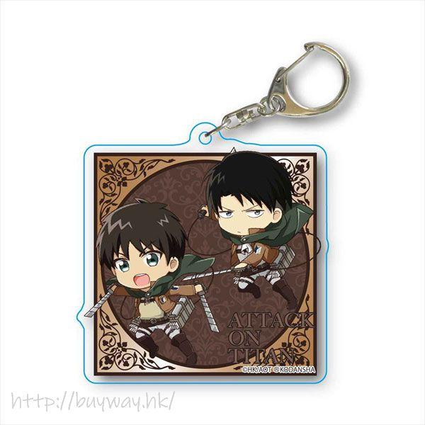 進擊的巨人 「艾倫 + 里維」立體機動 亞克力匙扣 TEKUTOKO Choi Deka Acrylic Key Chain Eren & Levi 3D Manever Gear【Attack on Titan】