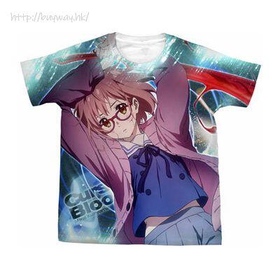 境界的彼方 (加大)「栗山未來」白色 T-Shirt Kyoukai No Kanata - Mirai Kuriyama Full Graphic T-Shirt /WHITE- XL【Beyond the Boundary】