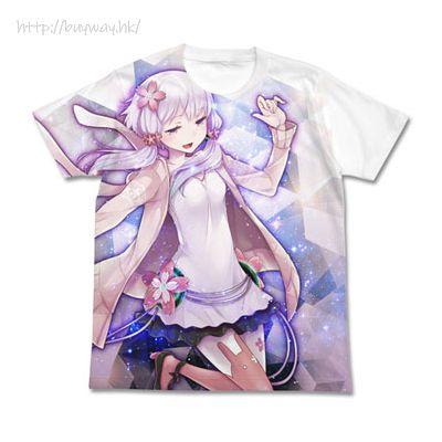 VOCALOID 系列 (細碼)「結月緣」穏 白色 T-Shirt Yuzuki Yukari - On Full Graphic T-Shirt /WHITE- S【VOCALOID Series】