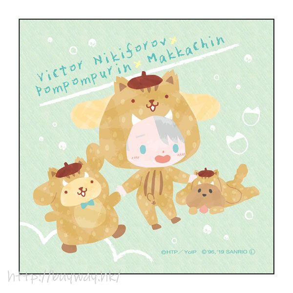勇利!!! on ICE 「維克托 + 布丁狗 / 布甸狗 + Makkachin」野豬 Ver. 小手帕 Sanrio Characters Microfiber Boar Ver. C【Yuri on Ice】