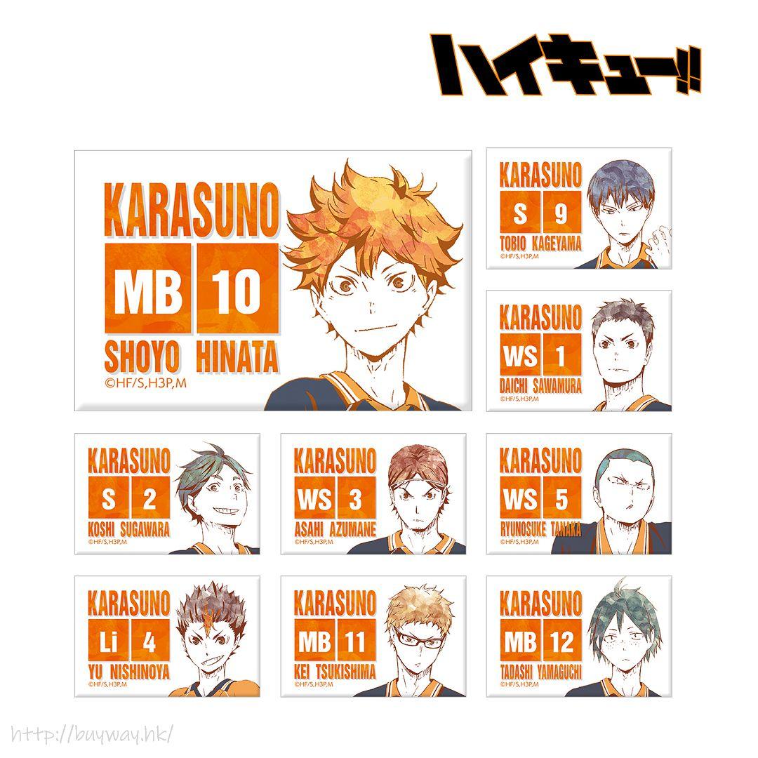 排球少年!! Ani-Art 方形磁石 Ver.A (9 個入) Ani-Art Can Magnet Ver. A (9 Pieces)【Haikyu!!】