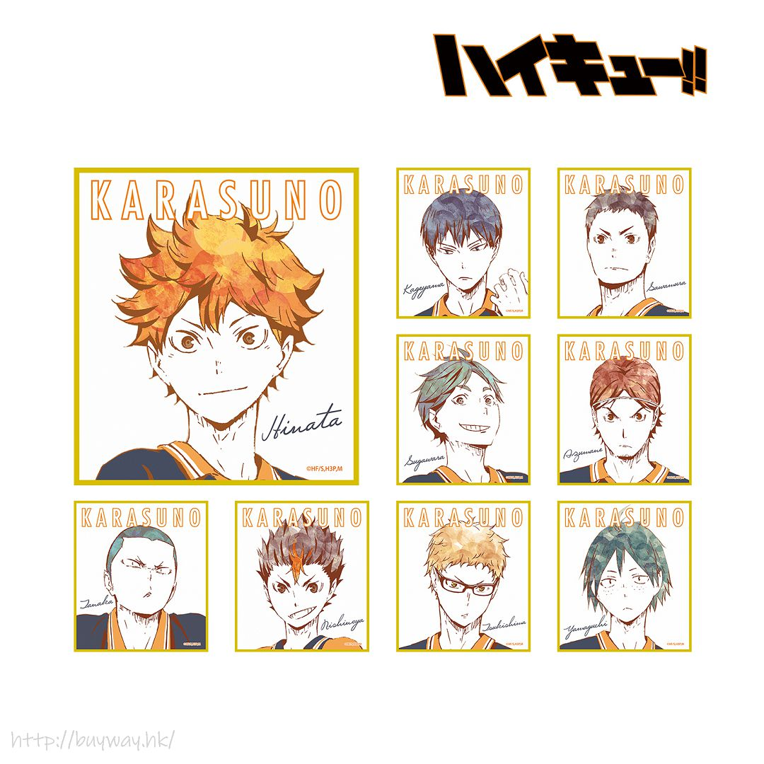 排球少年!! Ani-Art 色紙 Ver. A (9 個入) Ani-Art Mini Shikishi Ver. A (9 Pieces)【Haikyu!!】