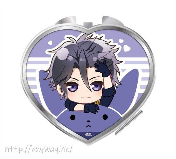 月歌。 「睦月始」騎著月兔 心形鏡子 Notty Series Compact Mirror Mutsuki Hajime【Tsukiuta.】