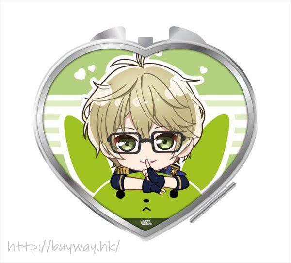 月歌。 「彌生春」騎著月兔 心形鏡子 Notty Series Compact Mirror Yayoi Haru【Tsukiuta.】