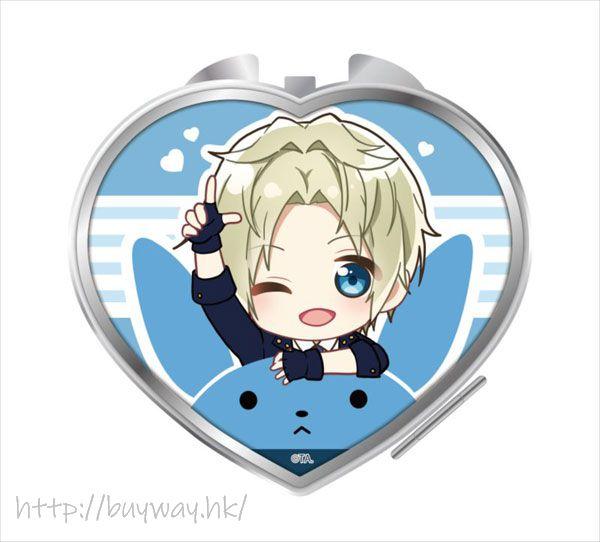 月歌。 「皐月葵」騎著月兔 心形鏡子 Notty Series Compact Mirror Satsuki Aoi【Tsukiuta.】