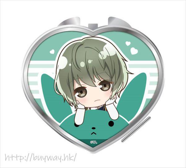 月歌。 「水無月淚」騎著月兔 心形鏡子 Notty Series Compact Mirror Minaduki Rui【Tsukiuta.】