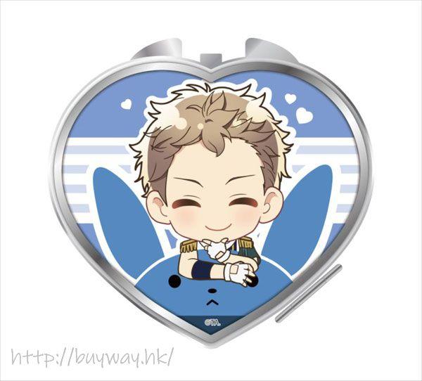 月歌。 「文月海」騎著月兔 心形鏡子 Notty Series Compact Mirror Fuduki Kai【Tsukiuta.】