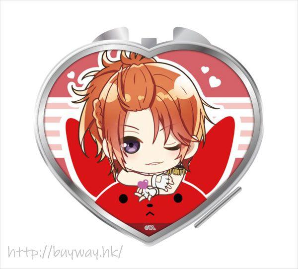 月歌。 「葉月陽」騎著月兔 心形鏡子 Notty Series Compact Mirror Haduki You【Tsukiuta.】