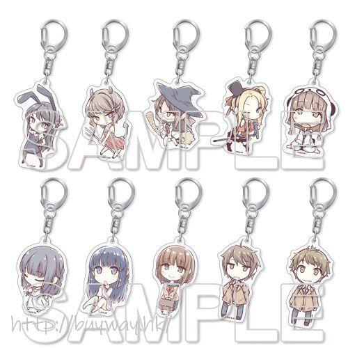 青春豬頭少年系列 亞克力匙扣 (10 個入) Acrylic Key Chain (10 Pieces)【Seishun Buta Yaro】