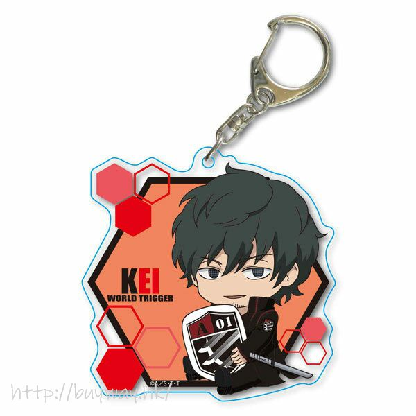 境界觸發者 「太刀川慶」Deka 亞克力匙扣 GyuGyutto Choi Deka Acrylic Key Chain Tachikawa Kei【World Trigger】
