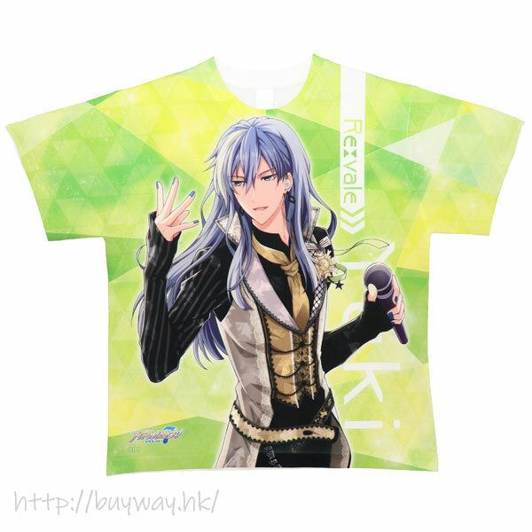 IDOLiSH7 (大碼)「千」全彩 T-Shirt Full Graphic T-Shirt L Yuki L Size【IDOLiSH7】