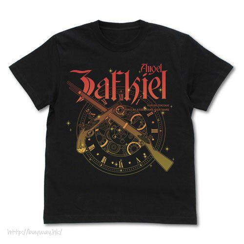 """約會大作戰 (大碼)「時崎狂三」刻々帝 黑色 T-Shirt Kurumi Tokisaki """"Kokkokutei (Zafukiel)"""" T-Shirt /BLACK-L【Date A Live】"""
