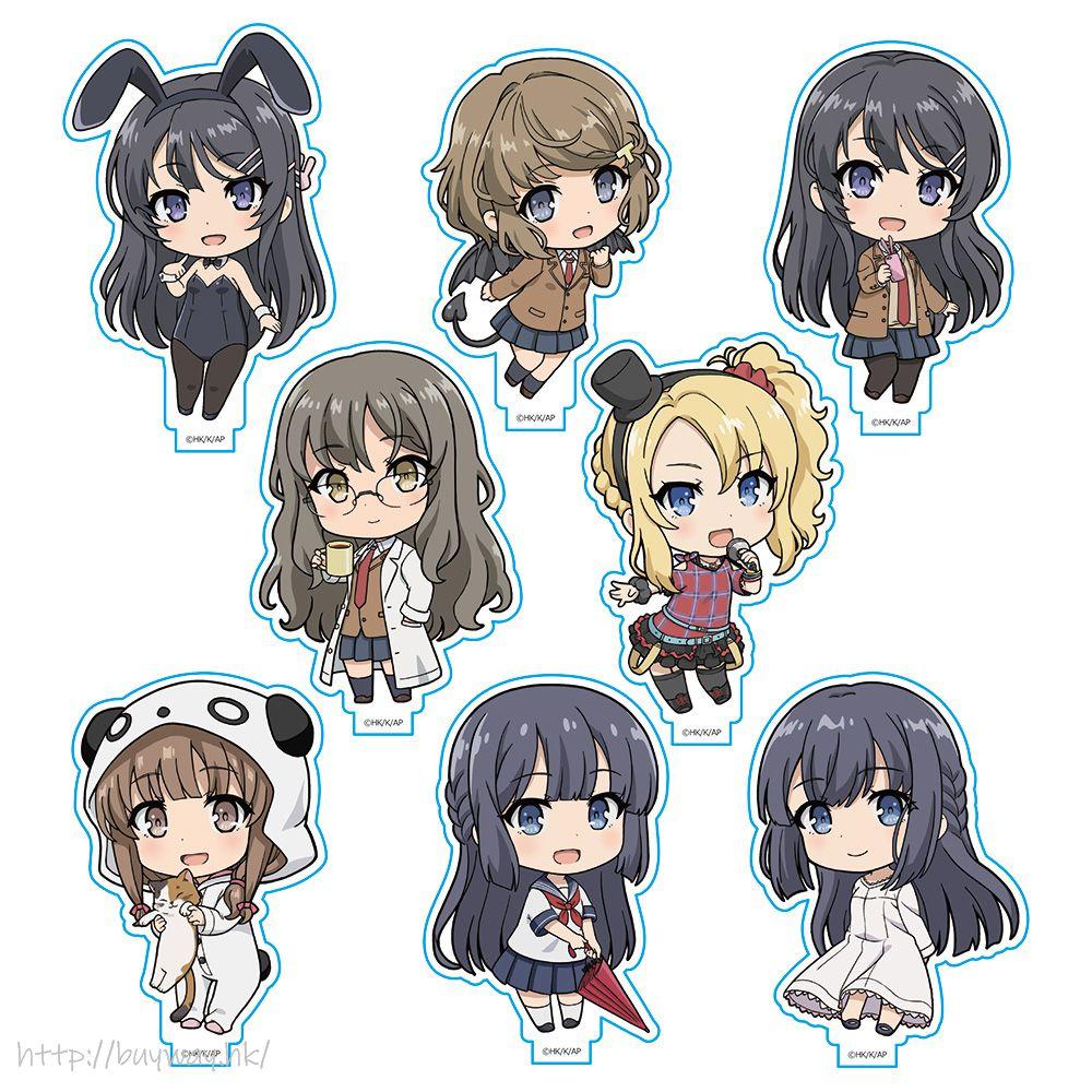 青春豬頭少年系列 亞克力企牌 (8 個入) Acrylic Stand Collection (8 Pieces)【Seishun Buta Yaro】