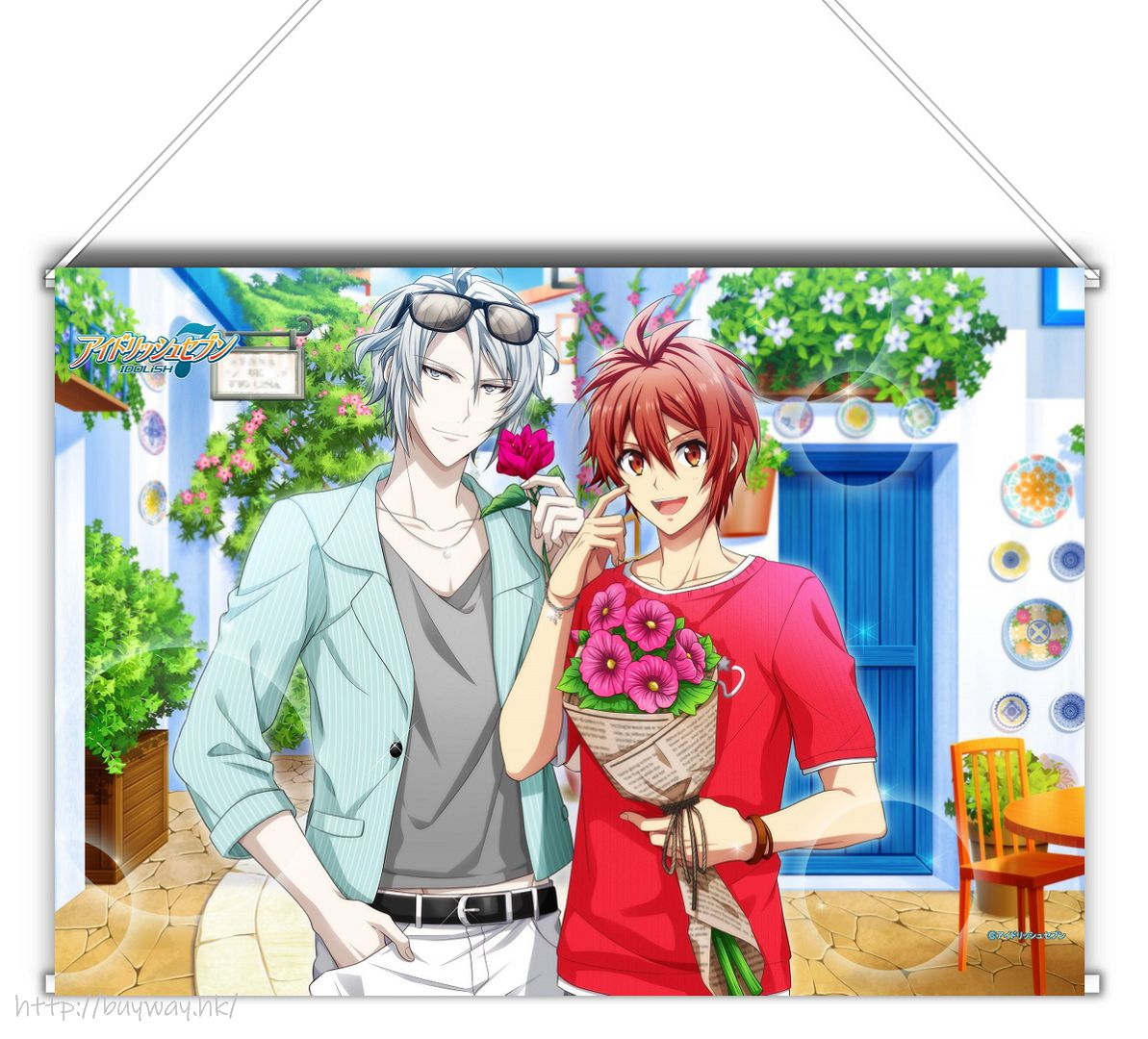 IDOLiSH7 「八乙女樂 + 七瀨陸」Shuffle Talk2 B3 掛布 Shuffle Talk 2 B3 Tapestry Gaku & Riku【IDOLiSH7】