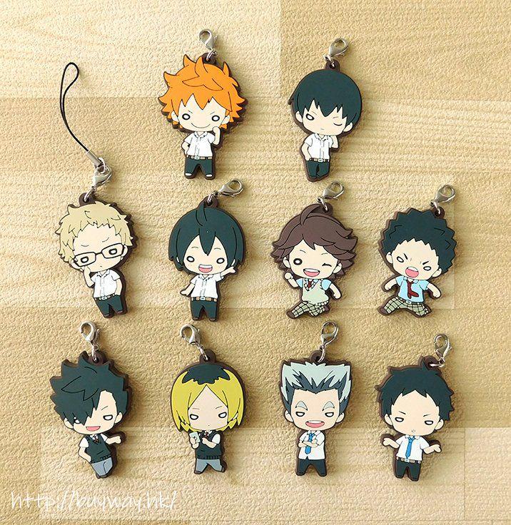 排球少年!! 校服 Ver. 豆豆眼 橡膠掛飾 (隨機 1 個) Nitotan School Uniform Rubber Mascot (9 Pieces)【Haikyu!!】