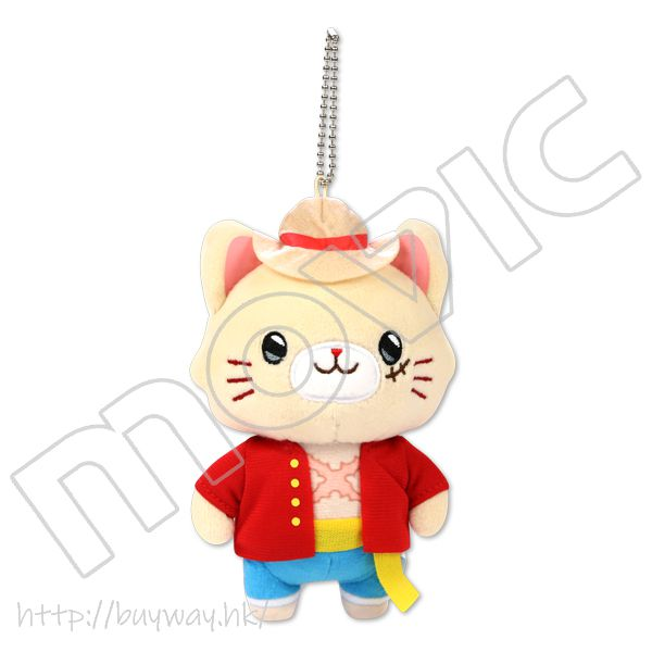 海賊王 「路飛」withCAT 公仔掛飾 withCAT w/Eye Mask Plush Keychain Monkey·D·Luffy【One Piece】