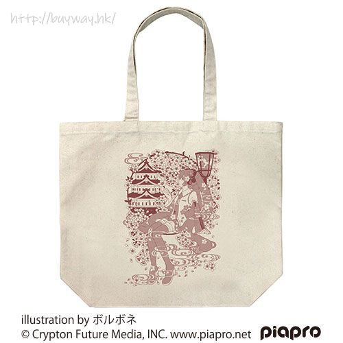 VOCALOID系列 「櫻初音」大容量 米白 袋子 Sakura Miku Large Tote Bag Borubone Ver. /NATURAL【VOCALOID Series】