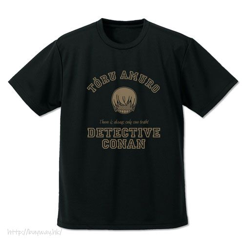 名偵探柯南 (加大)「安室透」Icon 吸汗快乾 黑色 T-Shirt Toru Amuro Icon Mark Dry T-Shirt /BLACK-XL【Detective Conan】