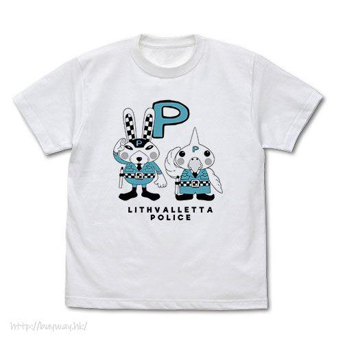 Double Decker!刑事雙雄 (加大)「マモル君 + トリシマル君」白色 T-Shirt Mamoru-kun & Torishimaru-kun T-Shirt /WHITE-XL【Double Decker! Doug & Kirill】