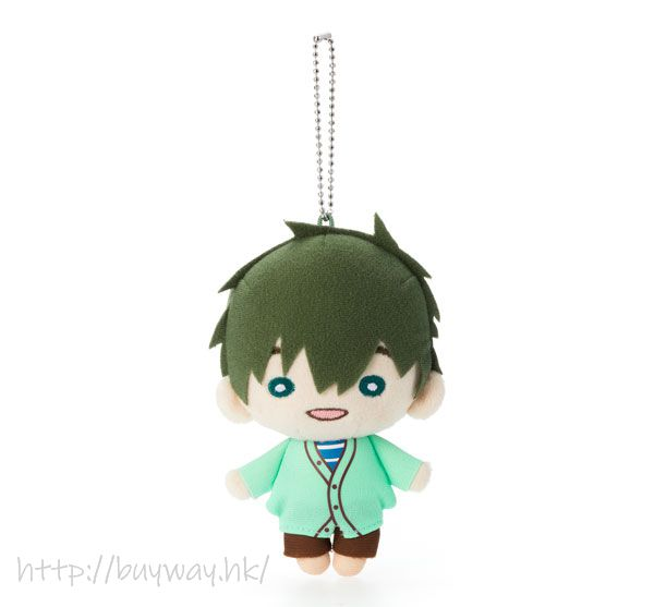 Free! 熱血自由式 「橘真琴」豆豆眼 公仔掛飾 Nitotan Plush with Ball Chain Tachibana Makoto【Free!】