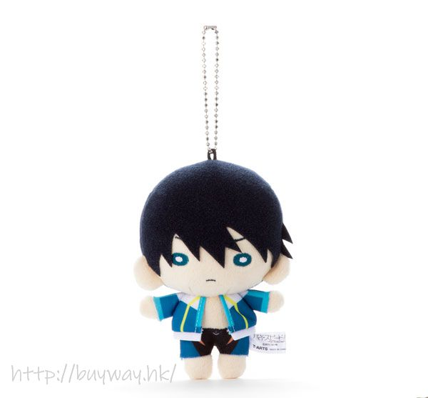 Free! 熱血自由式 「七瀬遙」拉開外套 豆豆眼 公仔掛飾 Nitotan Plush with Ball Chain Nanase Haruka【Free!】