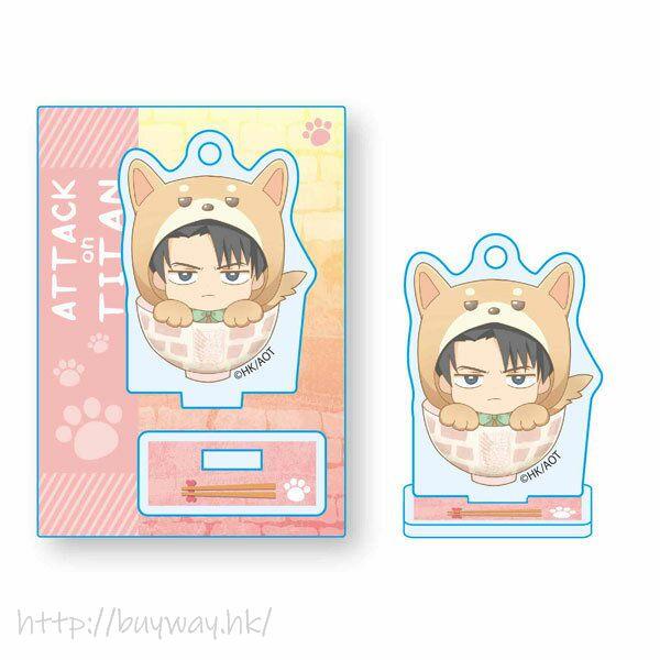 進擊的巨人 「里維」可愛秋田犬 企牌 Wanko Meshi Mini Stand Levi Kigurumi【Attack on Titan】