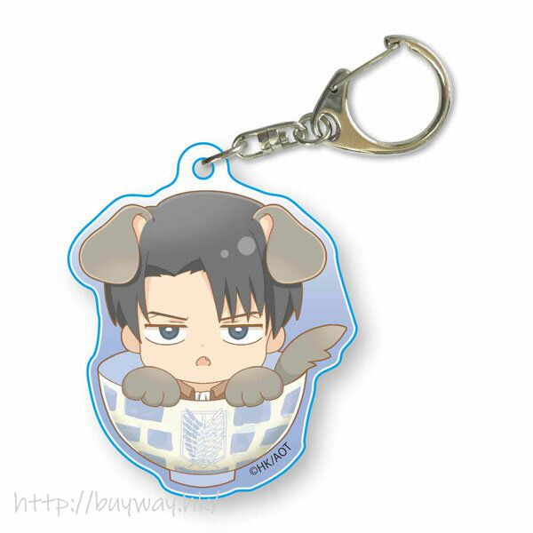 進擊的巨人 「里維」可愛小狗 亞克力匙扣 Wanko Meshi Acrylic Key Chain Levi【Attack on Titan】