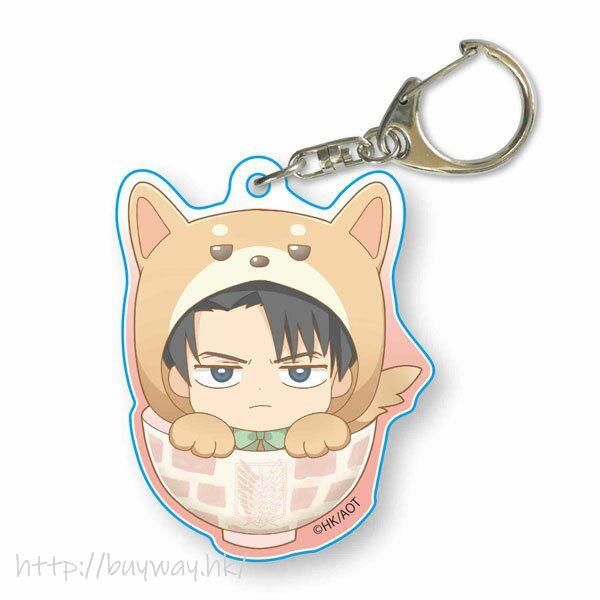 進擊的巨人 「里維」可愛秋田犬 亞克力匙扣 Wanko Meshi Acrylic Key Chain Levi Kigurumi【Attack on Titan】
