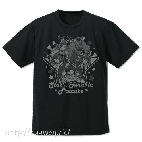 光之美少女系列 (加大)「星光閃亮☆光之美少女」吸汗快乾 黑色 T-Shirt Star*Twinkle PreCure Dry T-Shirt /BLACK-XL【Pretty Cure Series】