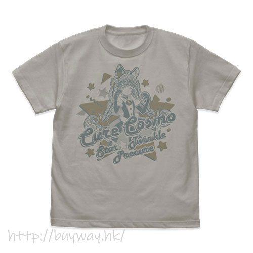 光之美少女系列 (加大)「宇宙天使」淺灰 T-Shirt Star*Twinkle PreCure Cure Cosmos T-Shirt /LIGHT GRAY-XL【Pretty Cure Series】