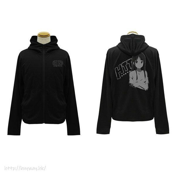 K-On!輕音少女 (加大)「秋山澪」輕盈快乾 黑色 連帽衫 Mio Akiyama Thin Dry Hoodie /BLACK-XL【K-On!】