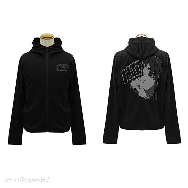 K-On!輕音少女 (加大)「中野梓」輕盈快乾 黑色 連帽衫 Azusa Nakano Thin Dry Hoodie /BLACK-XL【K-On!】