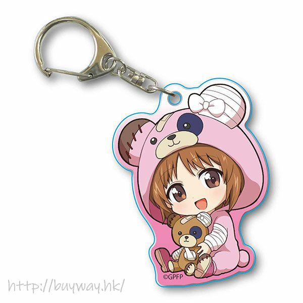 少女與戰車 「西住美穗」抱著破爛熊 匙扣 GyuGyutto Acrylic Key Chain Kigurumi Ver. Nishizumi Miho【Girls and Panzer】