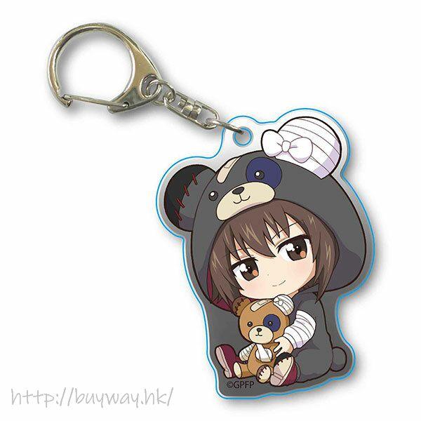 少女與戰車 「西住真穗」抱著破爛熊 匙扣 GyuGyutto Acrylic Key Chain Kigurumi Ver. Nishizumi Maho【Girls and Panzer】