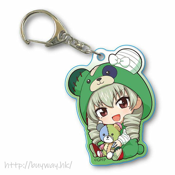 少女與戰車 「安齋千代美」抱著破爛熊 匙扣 GyuGyutto Acrylic Key Chain Kigurumi Ver. Anchovy【Girls and Panzer】