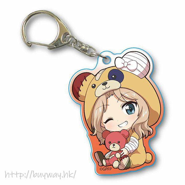 少女與戰車 「凱伊」抱著破爛熊 匙扣 GyuGyutto Acrylic Key Chain Kigurumi Ver. Kei【Girls and Panzer】