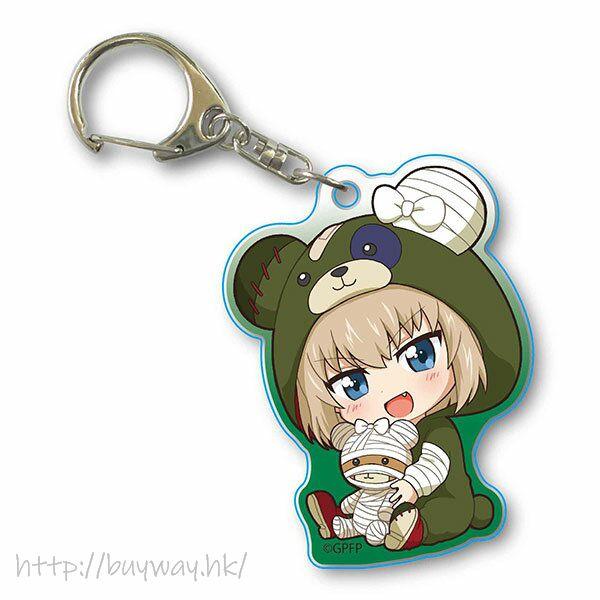 少女與戰車 「卡秋莎」抱著破爛熊 匙扣 GyuGyutto Acrylic Key Chain Kigurumi Ver. Katyusha【Girls and Panzer】