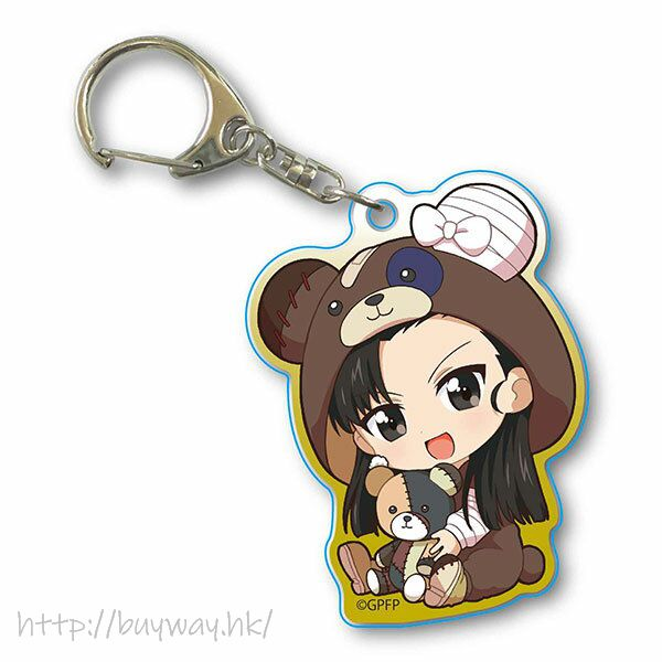 少女與戰車 「西絹代」抱著破爛熊 匙扣 GyuGyutto Acrylic Key Chain Kigurumi Ver. Nishi Kinuyo【Girls and Panzer】