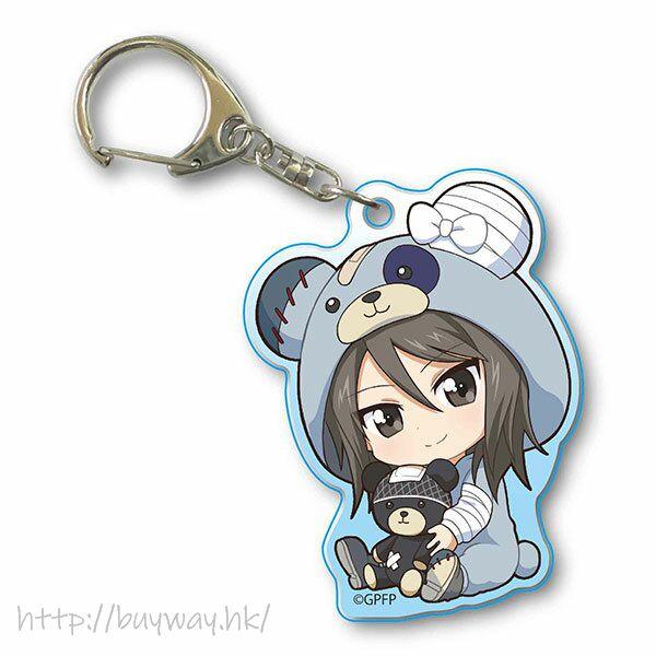 少女與戰車 「米卡」抱著破爛熊 匙扣 GyuGyutto Acrylic Key Chain Kigurumi Ver. Mika【Girls and Panzer】