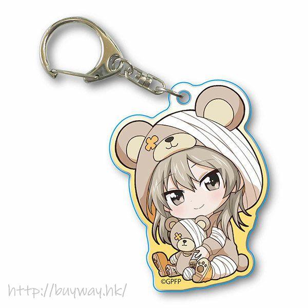 少女與戰車 「島田愛里壽」抱著破爛熊 匙扣 GyuGyutto Acrylic Key Chain Kigurumi Ver. Shimada Alice【Girls and Panzer】