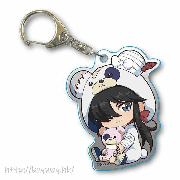 少女與戰車 「阿銀」抱著破爛熊 匙扣 GyuGyutto Acrylic Key Chain Kigurumi Ver. Ogin【Girls and Panzer】