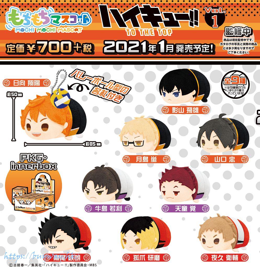排球少年!! 團子趴趴公仔 掛飾 Vol.1 (9 個入) Mochimochi Mascot Vol. 1 (9 Pieces)【Haikyu!!】