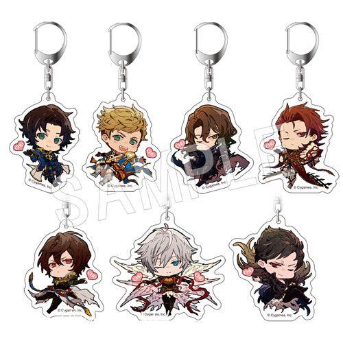 碧藍幻想 亞克力匙扣 Chu♡ Ver. (7 個入) Acrylic Key Chain Chu series (7 Pieces)【Granblue Fantasy】