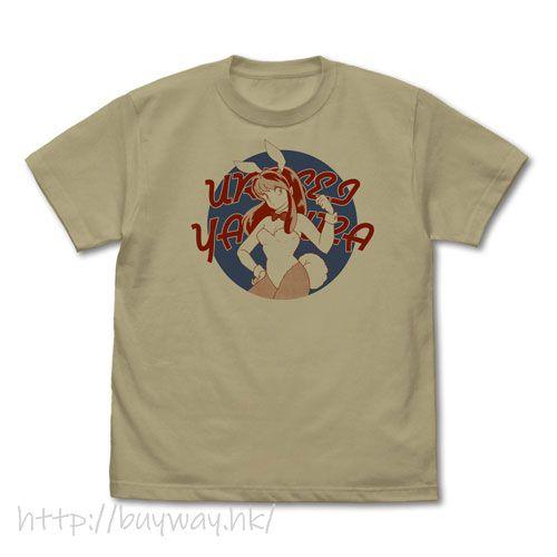 山T女福星 (大碼)「阿琳」深卡其色 T-Shirt Bunny Girl Lum-chan T-Shirt /SAND KHAKI-L【Urusei Yatsura】