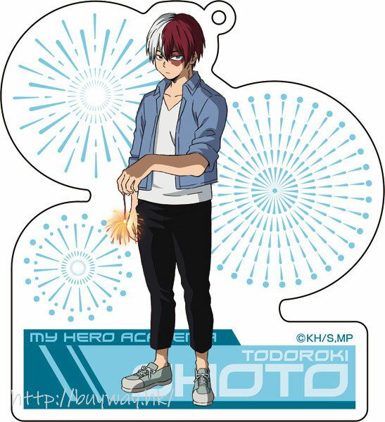 我的英雄學院 「轟焦凍」放煙火 亞克力匙扣 Acrylic Key Chain 5 Todoroki Shoto【My Hero Academia】