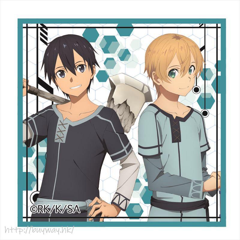 刀劍神域系列 「桐谷和人 + 尤吉歐」日常服 方形徽章 Vol.2 Square Can Badge Vol. 2 Kirito & Eugeo B【Sword Art Online Series】