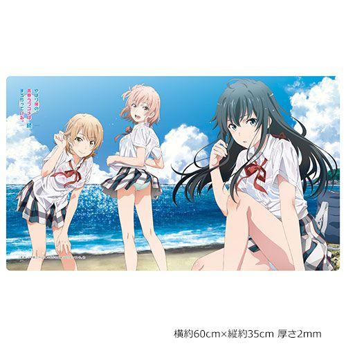 果然我的青春戀愛喜劇搞錯了。 「雪之下雪乃 + 由比濱結衣 + 一色彩羽」橡膠墊 Rubber Mat Yukino & Yui & Iroha / Sea【My youth romantic comedy is wrong as I expected.】