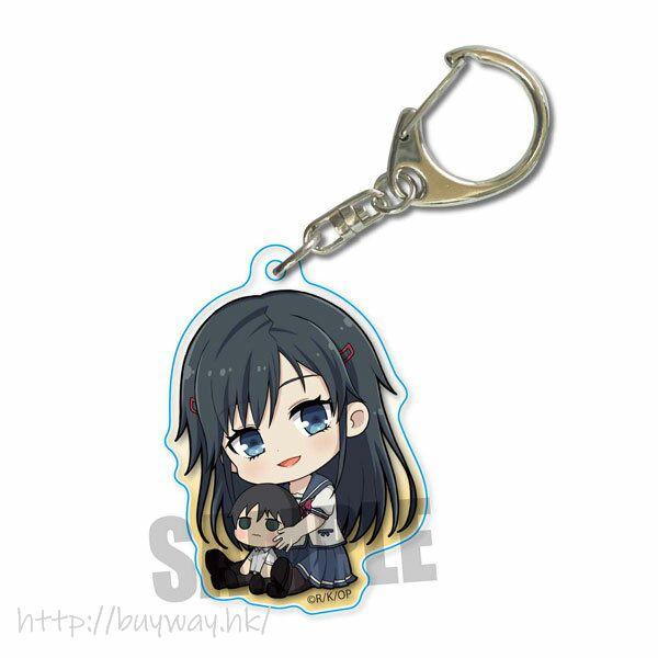 喜歡本大爺的竟然就妳一個? 「三色院董子」素顏 抱著 花灑 亞克力匙扣 Gyugyutto Acrylic Keychain Sumireko Sanshokuin (Unmasked)【Oresuki】
